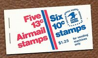1973 UNITED STATES UNEXPLODED BOOKLET, 13 CENT AIRMAIL W/PANE OF 10 CENT STAMPS