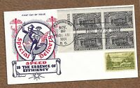 1951 UNITED STATES FDC SPECIAL DELI W/PLATE BLOCK, FLEETWOOD CACHET