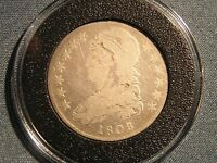 1808 CAPPED BUST HALF DOLLAR  SILVER U.S. COIN IN AIRTITE HOLDER