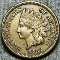 1862 COPPER NICKEL INDIAN HEAD CENT PENNY      NICE TYPE COIN      D421