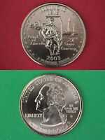 2003 D ILLINOIS STATE QUARTER FROM UNCIRCULATED MINT SETS FLAT RATE SHIPPING