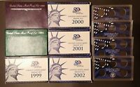 EMPTY PACKAGING LOT REPLACEMENT FOR U.S. MINT PROOF SETS   BOXES/COAS 50 STATES