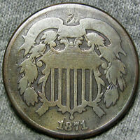 1871 TWO CENT PIECE 2 CENT PIECE  ---- TYPE COIN LOW MINTAGE ---- H442