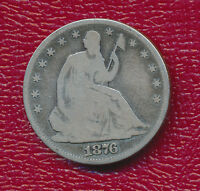 1876 SEATED LIBERTY SILVER HALF DOLLAR NICE CIRCULATED HALF DOLLAR FREE SHIP