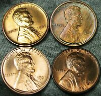 1909 1909 VDB 1930-S 1931 LINCOLN WHEAT CENTS ---GEM BU DETAILS LOT--- W129