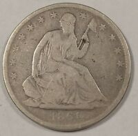 1861 O SEATED LIBERTY HALF DOLLAR POPULAR CIVIL WAR DATE UNION ISSUE G