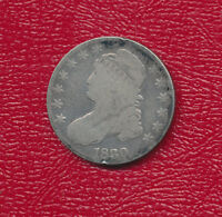 1830 CAPPED BUST SILVER HALF DOLLAR A NICE CIRCULATED HALF DOLLAR FREE SHIP