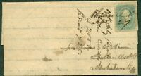 CONFEDERATE STATES 1864 FOLDED LETTER W/10 TIED MS. WHITMELL? VA TO COLORADO