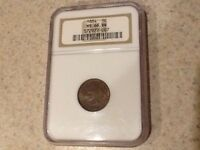 1884 INDIAN HEAD CENT NGC MS66BN