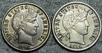 1902  1914 D BARBER DIMES     STUNNING LOT     W711