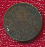 1867 TWO CENT PIECE  COPPER TYPE COIN SHIPS FREE