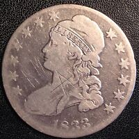 1833 CAPPED BUST EARLY SILVER HALF DOLLAR CIRCULATED BUSINESS STRIKE