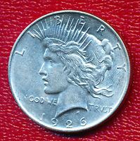 1926 D PEACE SILVER DOLLAR BEAUTIFUL GENTLY CIRCULATED DOLLAR