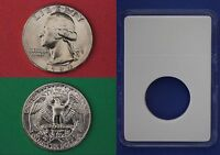1984 D GEORGE WASHINGTON QUARTER WITH DIY SLAB FROM MINT SET FLAT RATE SHIPPING