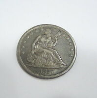 1857 O SEATED LIBERTY HALF DOLLAR   XF DETAILS
