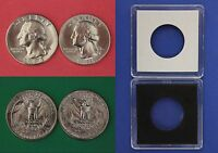 1984 D P WASHINGTON QUARTERS WITH 2X2 CASES FROM MINT SETS FLAT RATE SHIPPING