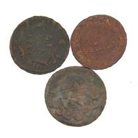 MIXED LOT OF RUSSIAN EMPIRE COPPER COINS DENGA. 1730 1754