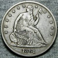 1861 SEATED LIBERTY HALF DOLLAR      TYPE COIN     N046