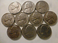 10 COINS 1980   1989 DENVER JEFFERSON NICKEL RUN LOT