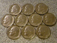 ALL 10 COINS 1970 TO 1979 DENVER ROOSEVELT DIME RUN LOT