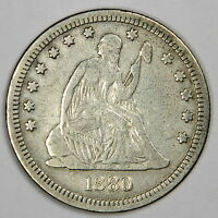 1880 SEATED QUARTER   NICE VF WITH NICE AND ORIGINAL COLOR   PRICED RIGHT