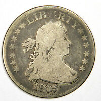 1805 DRAPED BUST QUARTER   NICE AND ORIGINAL VG   BOLD AND PRICED RIGHT