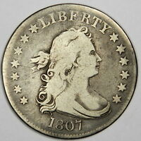 1807 DRAPED BUST QUARTER   NICE FINE   BOLD AND PRICED RIGHT