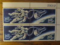 SPACE TWINS - 1967 U.S. POSTAGE STAMPS - ACCOMPLISHMENTS IN SPACE - MNH