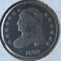 1830 BUST DIME FINE