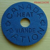 1939  1945  MEAT RATION TOKEN CANADA