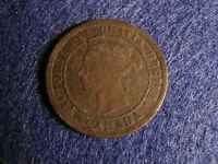 CIRCULATED 1888 CANADA LARGE COPPER 1 CENT QUEEN VICTORIA