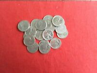 CANADIAN FIVE CENTS SET OF 15 COINS 1945   2007 ALL DIFFERENT QUALITY COINS