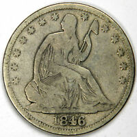 1846 O SEATED HALF DOLLAR   NICE ORIGINAL VG/FINE PRICED RIGHT
