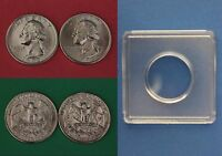 1993 D P WASHINGTON QUARTERS WITH 2X2 SNAPS FROM MINT SETS FLAT RATE SHIPPING