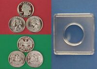 1993 P D S WASHINGTON QUARTERS WITH DIY SNAPS FROM MINT SETS  FLAT RATE SHIPPING