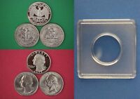 1977 P D S WASHINGTON QUARTERS WITH DIY SNAPS FROM MINT SETS  FLAT RATE SHIPPING