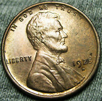 1925-D LINCOLN CENT WHEAT CENT --- GEM BU RED CONDITION --- T201