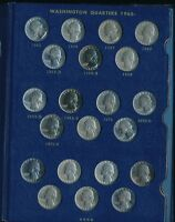 1965 1981 WASHINGTON QUARTER UNCIRCULATED COMPLETE SET W/PROOFS SHIPS FREE