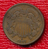 1867 TWO CENT PIECE INTERESTING TYPE COIN SHIPS FREE
