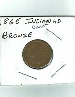 1865 INDIAN HEAD, BRONZE,