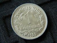 1 REICHSMARK 1935 A NAZI GERMANY COIN   KM 78   5633