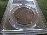 1807 DRAPED BUST SILVER HALF DOLLAR PCGS VF DETAILS HOLED 50 CENT COIN