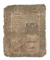 APRIL 1776 PENNSYLVANIA COLONIAL NOTE 2 SHILLINGS NOTE