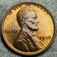 1928 LINCOLN CENT WHEAT PENNY      GEM BU      T613
