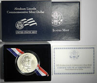 2009 ABRAHAM LINCOLN COMMEMORATIVE UNCIRCULATED SILVER DOLLAR   PRICED RIGHT