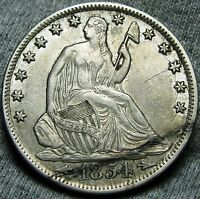 1854 O SEATED LIBERTY HALF DOLLAR  DIE CRACKS OBV AND REV    TYPE COIN    W278
