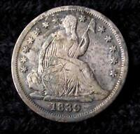 1839  SEATED LIBERTY DIME   XF DETAILS  16111