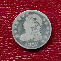 1827 CAPPED BUST SILVER DIME CIRCULATED -   SHIPS FREE