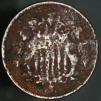 1868 SHIELD NICKEL 5 FIVE CENT COIN DARK & CORRODED SHIPS FREE 7932