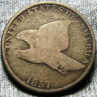 1857 FLYING EAGLE CENT PENNY  ---- TYPE COIN ---- D200
